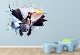 Handmade Products Toothless How To Train Your Dragon Movie 3d Wall Decal Sticker Stickers