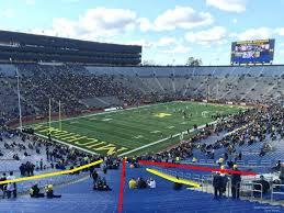 row map of michigan stadium