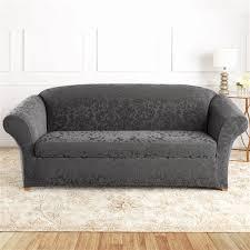 surefit sure fit jacquard damask sofa
