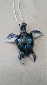sea turtle pendant blown glass turtle