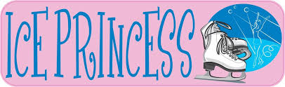 10in X 3in Ice Princess Skating Sports Bumper Sticker Vinyl Window Decal Stickertalk
