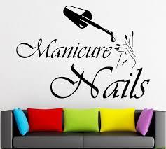 Nail Salon Wall Decal Manicure Pedicure Window Sticker Nail Etsy