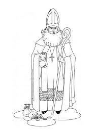 Kleurplaat Sinterklaas Ausmalbilder Nikolaus Sankt Nikolaus St