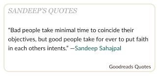 sahajpal goodreads has picked up one of my quotes as facebook