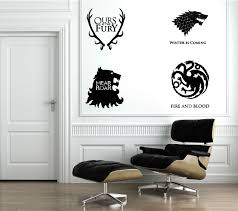 Game Of Thrones 4 Houses Wall Decals The Decal Guru