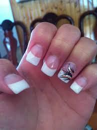 acrylic nail designs white tip