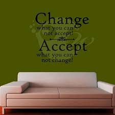 Amazon Com Brandvinyl Change What You Cannot Accept Wall Sticker Decal Three Black Home Kitchen