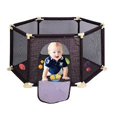 North States Style Portable Indoor And Outdoor Playard Baby Toddler Safety Crawling Guardrail Child Game Fence Blue Baby Play Yard Baby Safety Baby Playpen