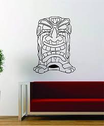 Amazon Com Tiki Version 3 Design Wall Decal Sticker Vinyl Art Hawaiian Beach Teen Home Kitchen