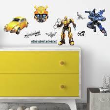Transformers Bumblebee Peel And Stick Wall Decals Walmart Com Walmart Com