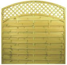 Arched Lattice Top Reinas Fence Panel Woodford Timber