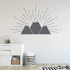 Mountain Wall Decal Children S Wall Decal Rb120 Designedbeginnings