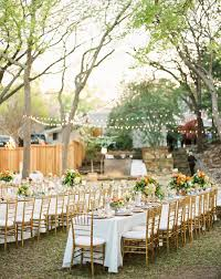 wedding reception with long tables remar