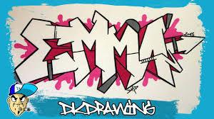 how to draw graffiti names emma 8
