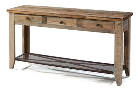 pine wood rustic console table with