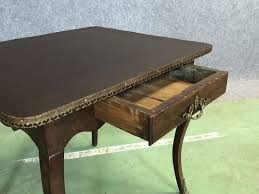 antique walnut desk with imitation