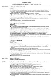 acquisition manager resume sles
