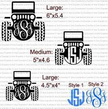Jeep Monogram Trendy Organized