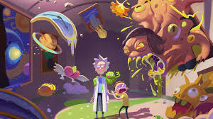 44 rick and morty trippy wallpapers