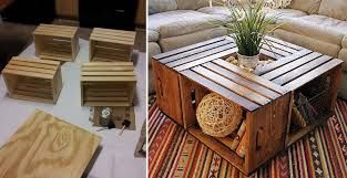 how to make wine crate coffee table
