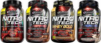 muscletech nitrotech whey proteins