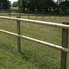 Half Round Post And Rail Fencing 2 Rail Post And Rail