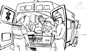 Kleurplaat Beroepen Ziekenauto Kleurplaat Ambulance