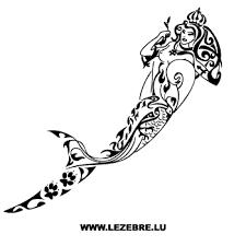 Mermaid Tribal Sm Sticker