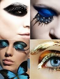 eye makeup with exotic eyelash extensions