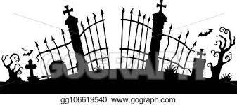 Vector Art Cemetery Gate Silhouette Theme 1 Eps Clipart Gg106619540 Gograph