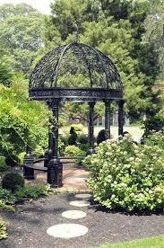garden arbor trellis with gate scroll