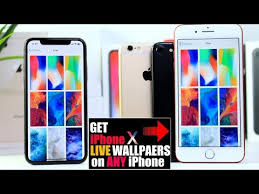 how to get iphone x live wallpapers on