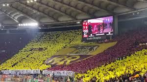 Roma - lazio: la coreografia della Curva Sud per il derby