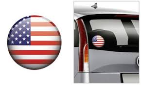American Flag Decal 4 1 2in Party City