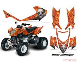 Amr Racing Graphics Kit Quad Decal Sticker Wrap Bones Orange Arctic Cat Dvx400 Dvx300 Ac Dvx 400 300 Bc O
