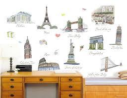 Travel Themed Decorative Adhesive Wall Sticker Idrop