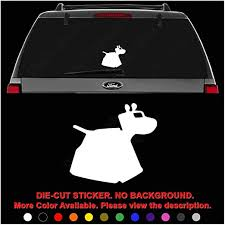 Amazon Com Dr Who Dog K9 Whovian Die Cut Vinyl Decal Sticker For Car Truck Motorcycle Vehicle Window Bumper Wall Decor Laptop Helmet Size 12 Inch 30 Cm Wide Color Gloss White