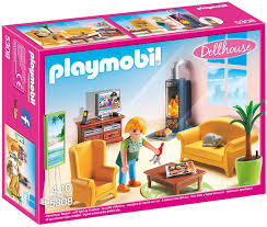Amazon Com Playmobil Living Room With Fireplace Toys Games
