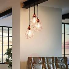 glossy copper hanging light tarbes 3