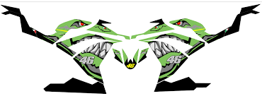 Custom Mx Vinyl Graphics Decal Sticker Kit Compatible With Kawasaki Ninja 300 Shark Green Sale Affordable Mx Graphics Quad Stickers Motorcycle Decals Store