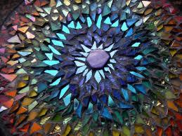 broken glass art mosaic art
