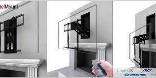 over the fireplace tv mount moves when