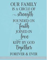 Home Garden Family Circle Of Strength Love Vinyl Decal Wall Sticker Words Letters Home Decor Decor Decals Stickers Vinyl Art