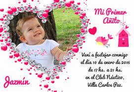 Tarjetas Invitaciones 1 Primer Anito Cumpleanos Infantil X30