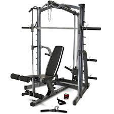 Marcy MWB1282 Home Gym Smith Machine & Weight Bench