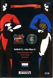 Affiche de Match anniversaire entre l'Inter Milan et Sheffield FC