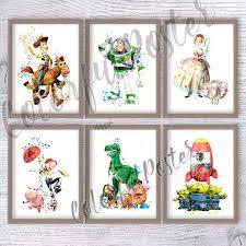 Set Of 6 Toy Story Print Disney Wall Decor Toy Story Etsy