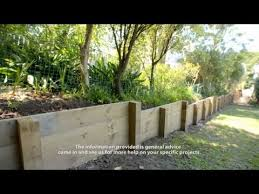 how to build a timber retaining wall