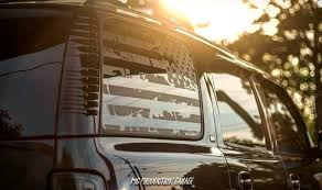 All Years Tahoe Yukon American Flag Decals Denali Chevy Etsy