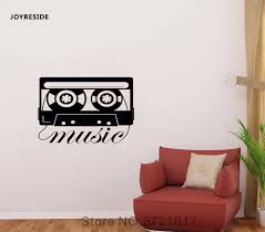 Joyreside Retro Cassette Tape Old Audio Music Player Wall Decal Vinyl Sticker Living Room Bedroom Design Murals Decoration A165 Wall Stickers Aliexpress